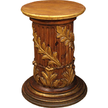 20th Century Italian Lacquered And Gilt Column