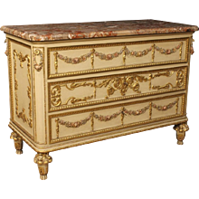 20th Century Italian Lacquered And Gilded Dresser
