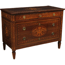 20th Century Italian Inlaid Dresser In Louis XVI Style