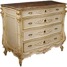 20th Century Italian Lacquered Dresser With Marble Top