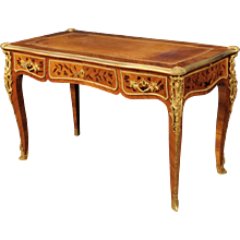 Early 20th Century French Inlaid Writing Desk