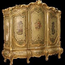 20th Century Venetian Lacquered Wardrobe