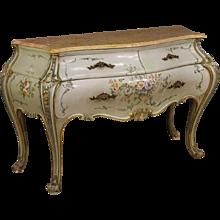 20th Century Venetian Lacquered Dresser