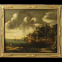 18th Century Italian Painting Depicting Seascape