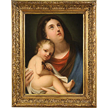 "18th Century French Painting ""Virgin With Child"""