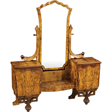 20th Century Italian Cheval Mirror In Art Déco Style