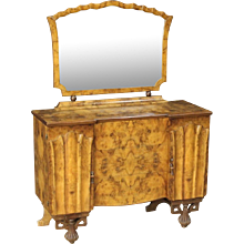 20th Century Italian Dresser With Mirror In Art Déco Style
