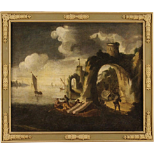 18th Century Antique Italian Oil Painting