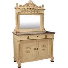 20th Century Italian Sideboard With Mirror In Louis XVI Style