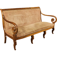 19th Century French Sofa In Walnut