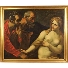 "18th Century Italian Painting ""Susanna And The Elders"""