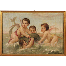 20th Century French Mythological Painting Oil On Canvas