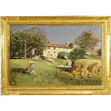 19th Century Italian Painting Signed And Dated 1899