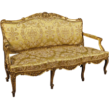 19th Century French Gilt Sofa In Louis XV Style