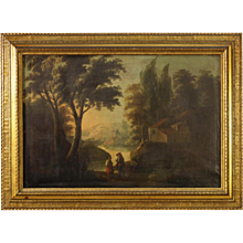 19th Century Antique Spanish Landscape Painting