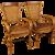 20th Century Pair Of Spanish Design Armchairs