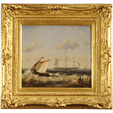 20th Century Dutch Seascape Signed Painting