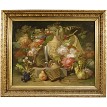 19th Century Antique French Still Life Painting