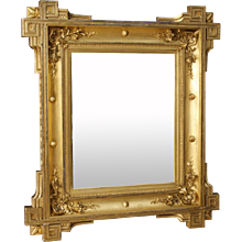 19th Century Antique French Mirror In Gilt Wood