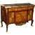 20th Century French Chest Of Drawers Inlaid In Mahogany, Rosewood, Maple and Fruitwood With Marble Top