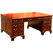 Regency Period Mahogany Partners' Desk