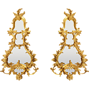 A Pair of George II Giltwood Girandoles
