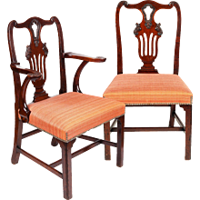 Set of Six Irish George II Period Mahogany Dining Chairs