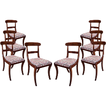 Set of 8 Federal Period Boston Made Dining Chairs