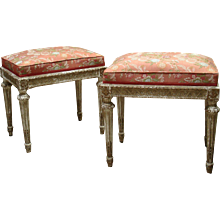A Pair of Louis XVI Style Tabouret