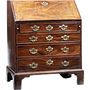 George II Period Mahogany Bureau of Small Proportions
