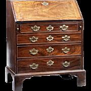 George II Period Mahogany Bureau of Small Proportions