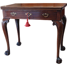 George II period mahogany tea table