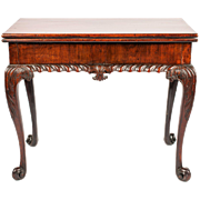 George II Period Mahogany Cabriole Leg Card Table