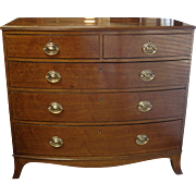 Regency Period 'Plum Pudding' Mahogany Bowfront Chest of Drawers