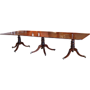Regency Period Mahogany Triple Pedestal Dining Table