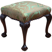 Early George III Period Mahogany Stool