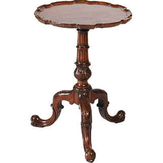 George II style mahogany wine table, in the Chippendale manner