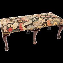 George II style mahogany and needlework bench