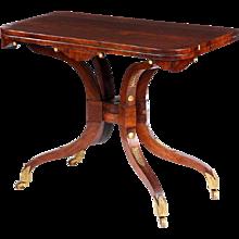 Regency period rosewood 'scissor action' games table