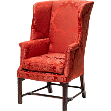 George III period wing armchair