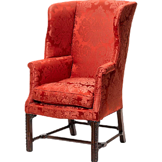 George III period wing armchair