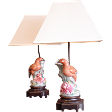Pair of Chinese Spill Vases, Now as Lamps
