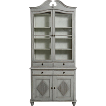 Scandinavian two-part vitrine cabinet, 19th C.