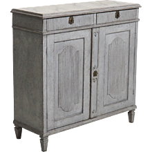 Gustavian Two-Door Sideboard, Original Locks and Hardware, Circa 1790