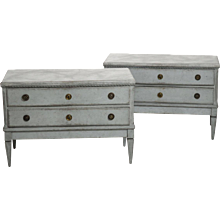 Pair of Gustavian chests, circa 1790.