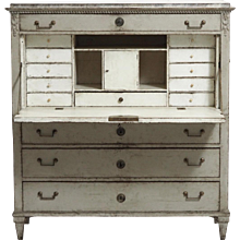 Two-part Gustavian secretary, circa 1790.