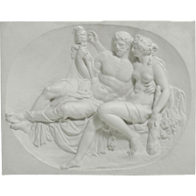 Plaster relief, circa 80 years old.