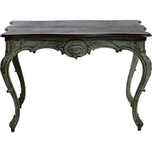 Swedish freestanding Rococo style table, richly carved, circa 1830.