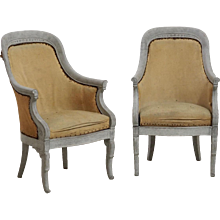 Pair of bergeres, probably from France or Italy, circa 1820.