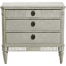 Gustavian Style Painted Chest, 19th C.